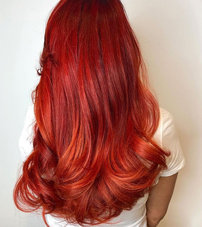 Image of bright Halloween Hair, created using Wella Professionals