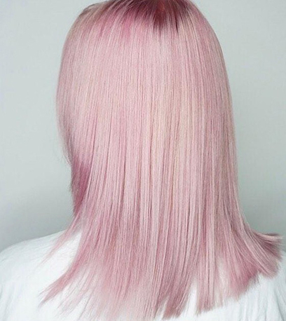 Bubblegum hair, created using Wella Professionals