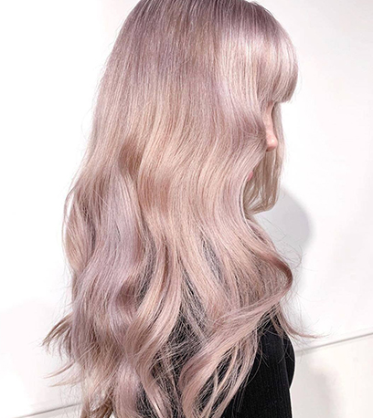 Metallic rose hair, created using Wella Professionals