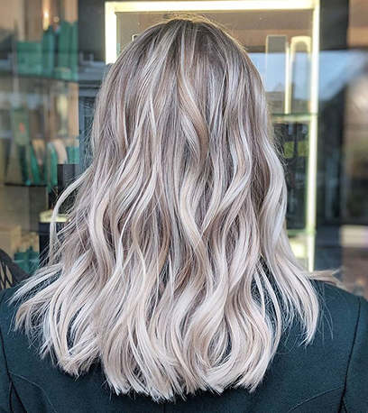Image of luscious Rooted Baby Blonde Hair, created using Wella Professionals