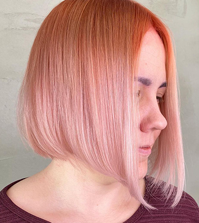 Image of pink Sunset Blonde Hair, created using Wella Professionals