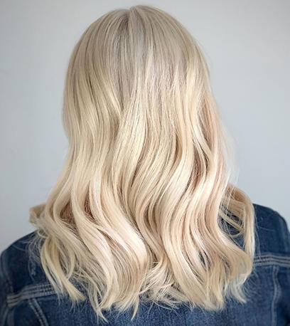 Image of wavey Vanilla Latte Hair, created using Wella Professionals