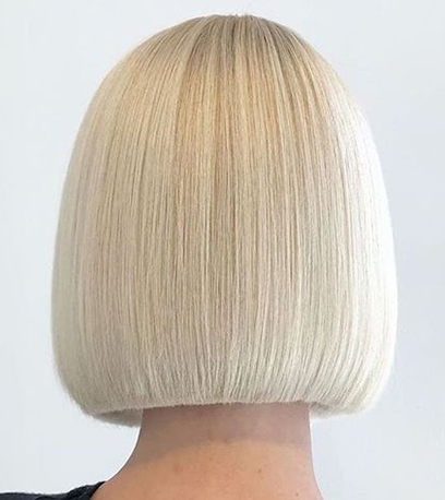 White chocolate bob,  created using Wella Professionals